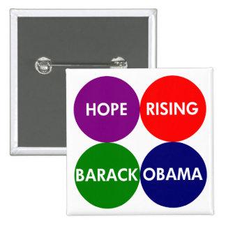 Hope Rising: Barack Obama Button