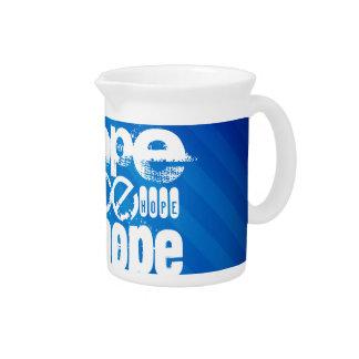 Hope; Royal Blue Stripes Pitchers