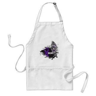 Hope Sarcoidosis Butterfly Adult Apron
