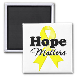 Hope Sarcoma Cancer 2 Inch Square Magnet