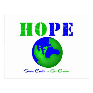 Hope Save Earth Go Green v2 Postcard