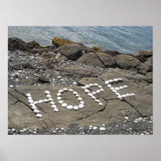 Hope - Seashell Art on the Beach Poster