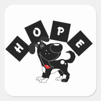 Hope (Shadow) Square Sticker