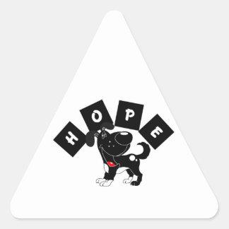 Hope Shadow Triangle Stickers