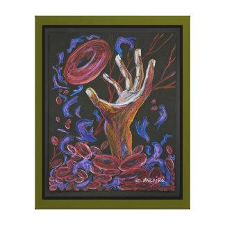 Hope - Sickle Cell Art Canvas Print Green