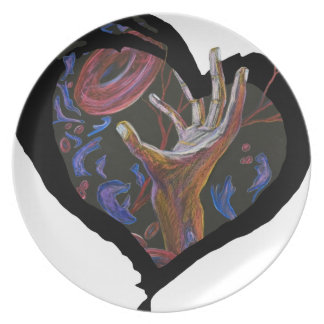 Hope - Sickle Cell Heart Art Plate