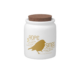 Hope Sings Gold Candy Dishes