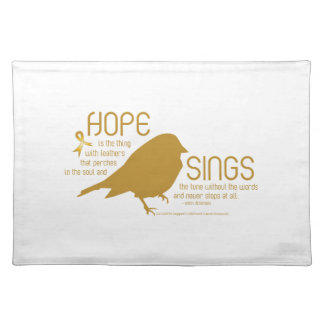 Hope Sings Gold Place Mat