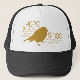 Hope Sings Gold Trucker Hat
