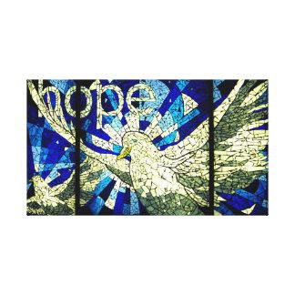 Hope springs eternal Holy Spirit Dove Canvas Art
