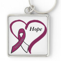 Hope & Stay Strong Head, Throat Neck Cancer Keychain