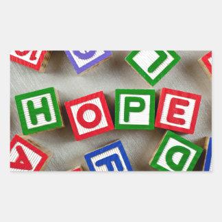 Hope Rectangular Sticker