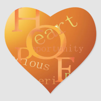 HOPE HEART STICKER