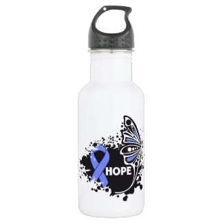 Hope Stomach Cancer Butterfly 18oz Water Bottle
