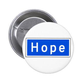 Hope Street, Los Angeles, CA Street Sign Pinback Button