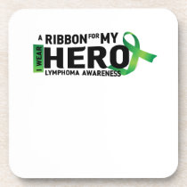 Hope Strong Lymphoma Awareness Support Gift Beverage Coaster