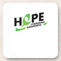 Hope Strong Lymphoma Awareness Support Gift Coaster