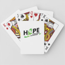Hope Strong Lymphoma Awareness Support Gift Playing Cards