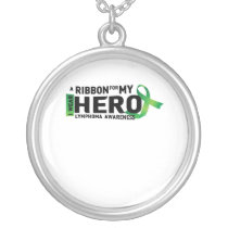 Hope Strong Lymphoma Awareness Support Gift Silver Plated Necklace