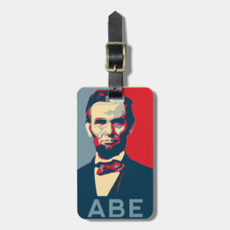 Hope Style Lincoln Portrait Luggage Tag