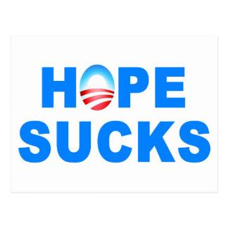 Hope Sucks Obama Postcard