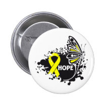 Hope Suicide Prevention Butterfly 2 Inch Round Button