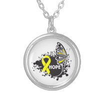 Hope Suicide Prevention Butterfly Round Pendant Necklace