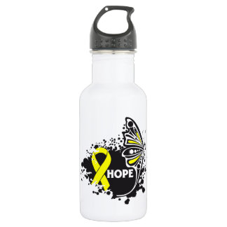 Hope Suicide Prevention Butterfly Stainless Steel Water Bottle