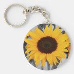 Hope Sunflower Basic Round Button Keychain