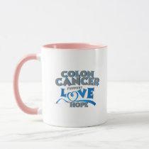 Hope Support Colon Cancer Awareness Gift Mug