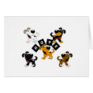 Hope (Surrounded by Pups) Card