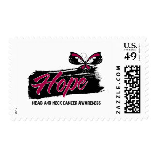 Hope Tattoo Butterfly Head and Neck Cancer Stamp