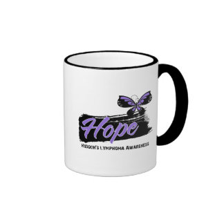 Hope Tattoo Butterfly Hodgkins Disease Ringer Coffee Mug
