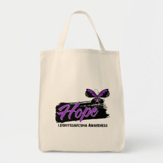 Hope Tattoo Butterfly Leiomyosarcoma Canvas Bags
