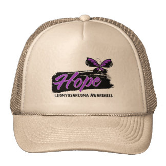 Hope Tattoo Butterfly Leiomyosarcoma Trucker Hat