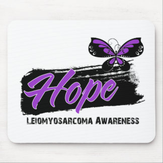 Hope Tattoo Butterfly Leiomyosarcoma Mouse Pads