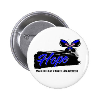Hope Tattoo Butterfly Male Breast Cancer 2 Inch Round Button