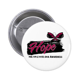 Hope Tattoo Butterfly Multiple Myeloma Buttons
