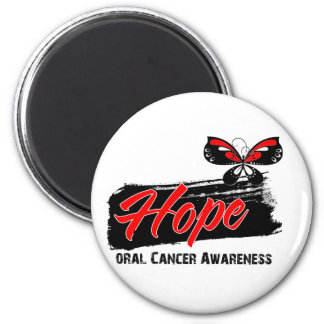 Hope Tattoo Butterfly Oral Cancer 2 Inch Round Magnet
