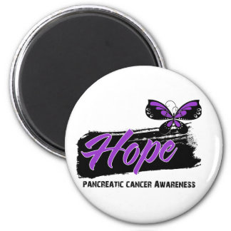 Hope Tattoo Butterfly Pancreatic Cancer 2 Inch Round Magnet