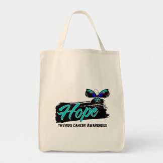 Hope Tattoo Butterfly Thyroid Cancer Tote Bag