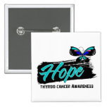 Hope Tattoo Butterfly Thyroid Cancer Button