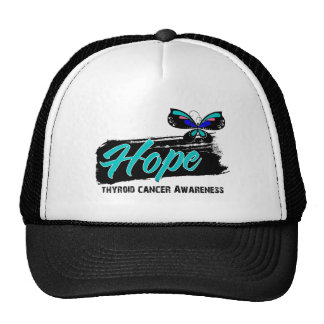 Hope Tattoo Butterfly Thyroid Cancer Trucker Hat
