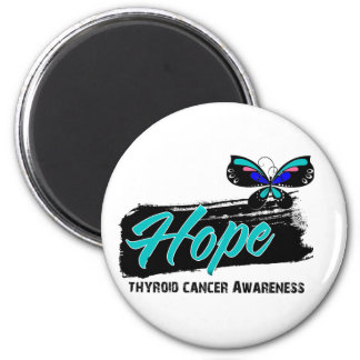 Hope Tattoo Butterfly Thyroid Cancer Fridge Magnets