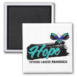 Hope Tattoo Butterfly Thyroid Cancer Refrigerator Magnet