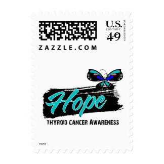 Hope Tattoo Butterfly Thyroid Cancer Postage Stamps