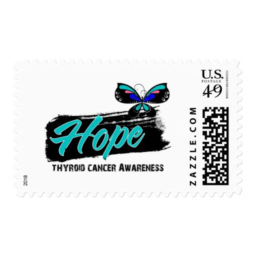 Hope Tattoo Butterfly Thyroid Cancer Postage Stamp