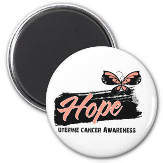 Hope Tattoo Butterfly Uterine Cancer 2 Inch Round Magnet