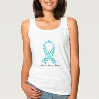 Hope Teal Awareness Ribbon Tank Top