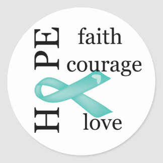 Hope (Teal) Classic Round Sticker
